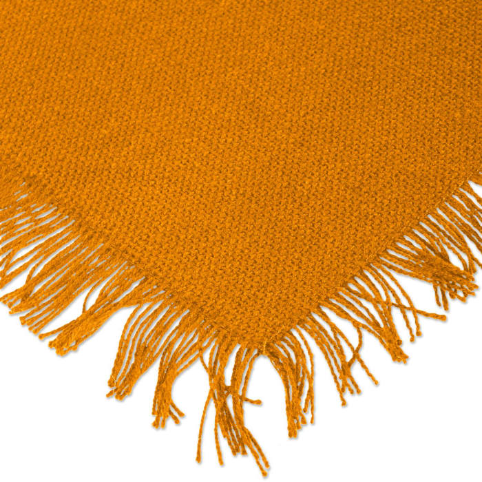 Solid Pumpkin Spice Heavyweight Fringed Placemat (Set of 6)