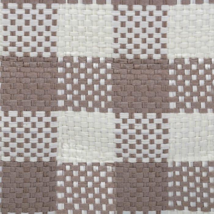 Paper Bin Checkers Stone Round Medium 13.75x13.75x17