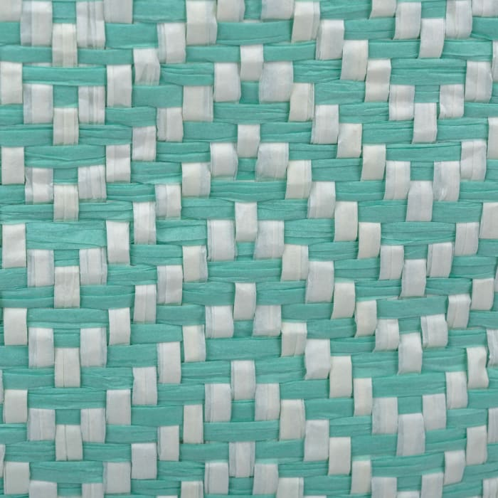 Paper Bin Chevron Aqua Rectangle Large 17x12x12