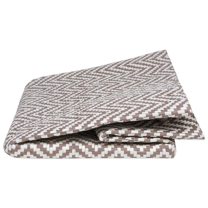 Paper Bin Chevron Stone Rectangle Medium 15x10x12