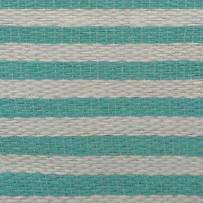 Paper Bin Pinstripe Aqua Round Medium 13.75x13.75x17