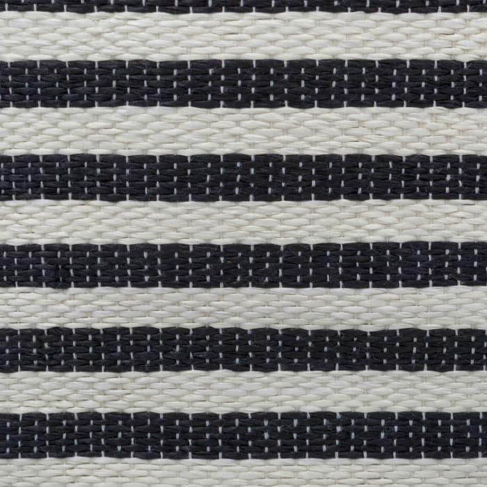 Paper Bin Pinstripe Black Round Medium 13.75x13.75x17