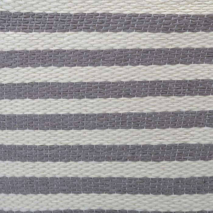 Paper Bin Pinstripe Gray Round Medium 13.75x13.75x17