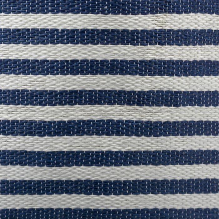 Paper Bin Pinstripe Nautical Blue Round Medium 13.75x13.75x17