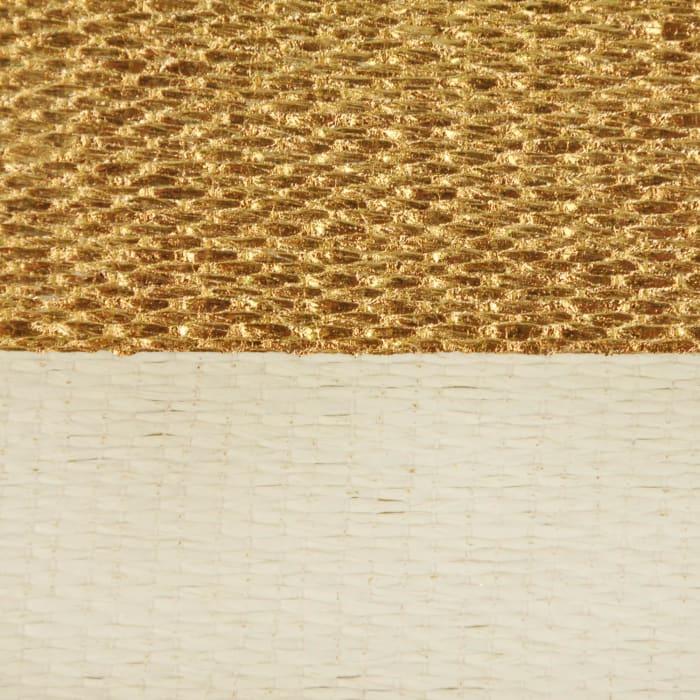 Paper Bin Stripe Gold Rectangle Large 17x12x12