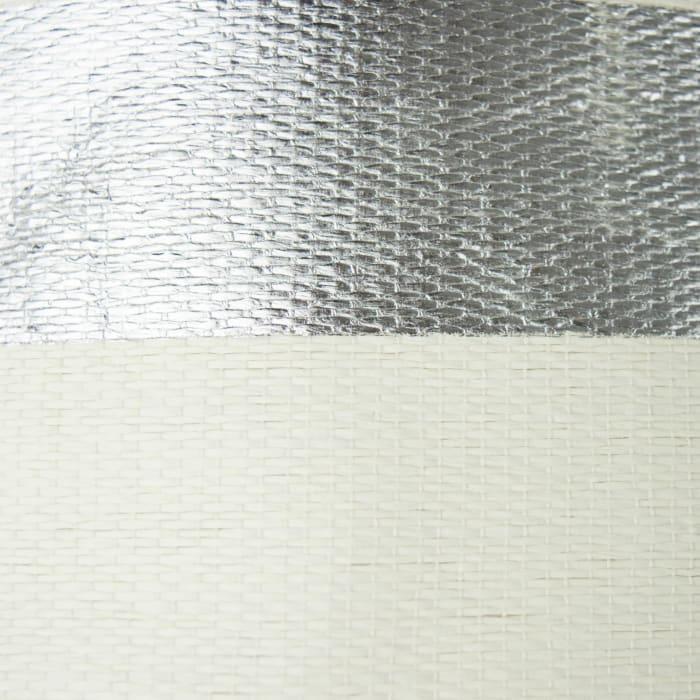 Paper Bin Stripe Silver Rectangle Large 17x12x12