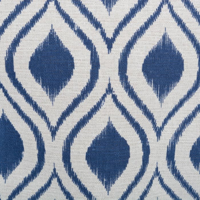 Polyester Bin Ikat French Blue Round Large 15x16x16