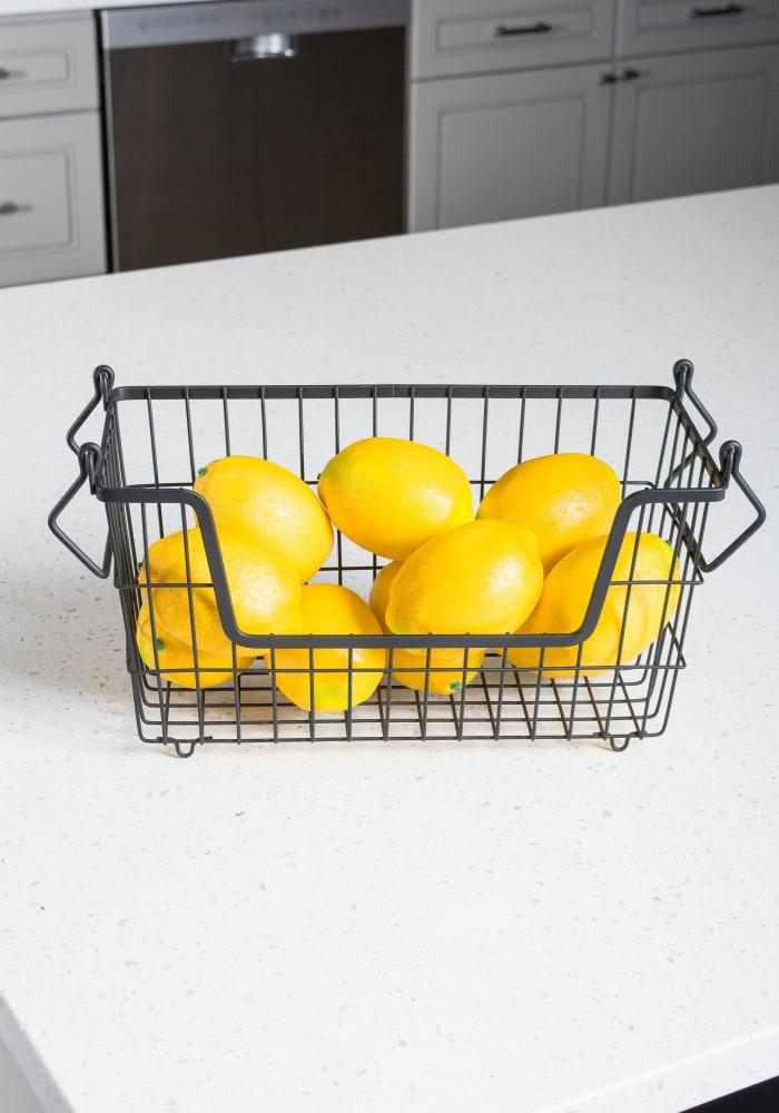 Metal Basket Black Rectangle Small 13x6x7