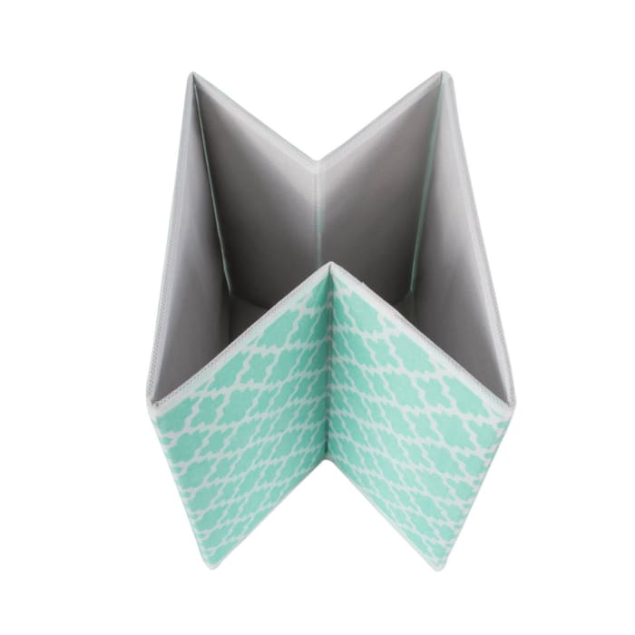 Nonwoven Polyester Cube Lattice Aqua Square 11x11x11 Set/4