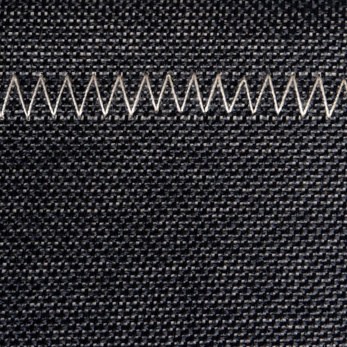 Poly Bin Zig-Zag Stitch Variegated Black Trapezoid 13x13x13 Set/2