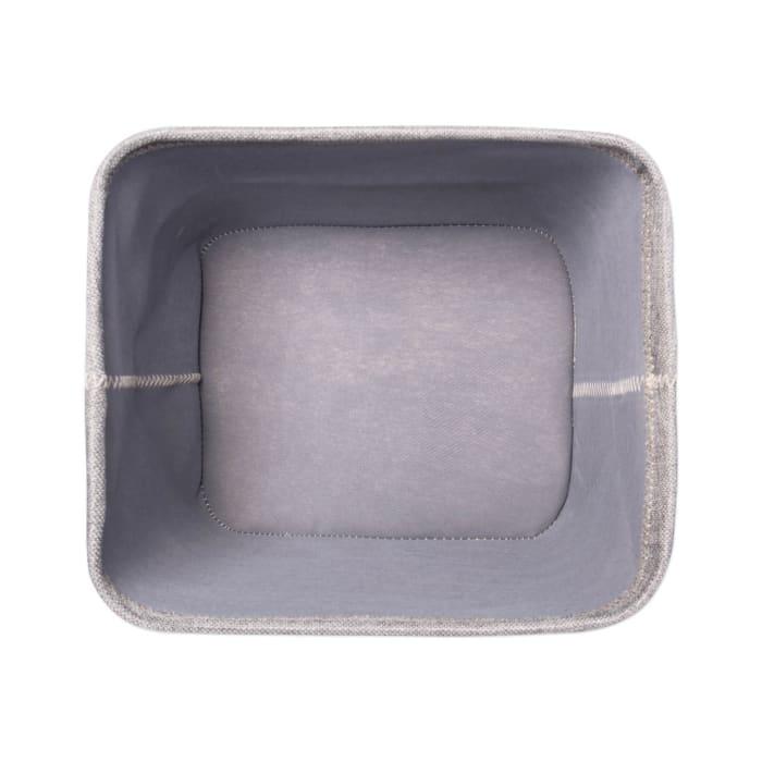 Poly Bin Zig-Zag Stitch Variegated Gray Trapezoid 12x10x8 Set/2