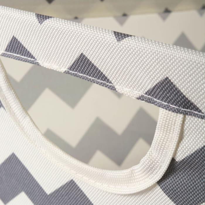 Polyester Bin Chevron Gray Trapezoid Large 20x14x11