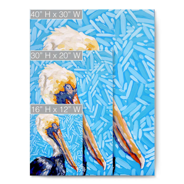 Coastal Seabird Blue Canvas Wall Art