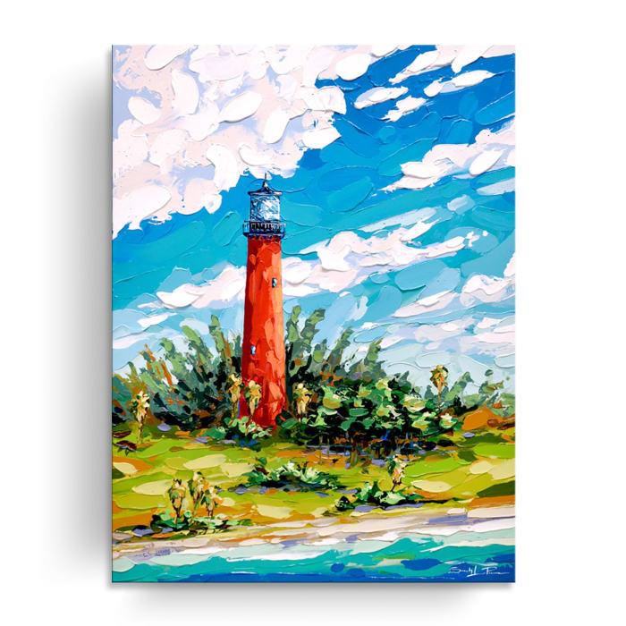 Coastal Guardian Multicolored Canvas Wall Art