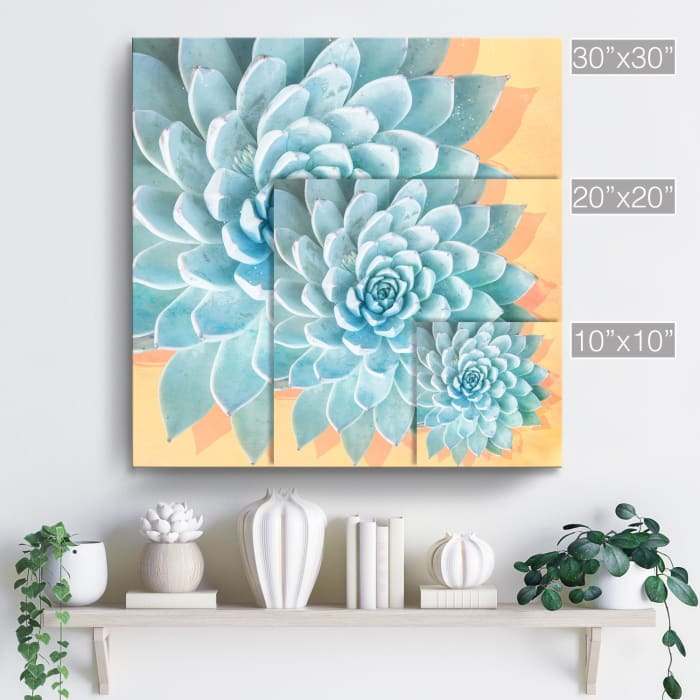 Bright-eyed III Multicolored Canvas Wall Art