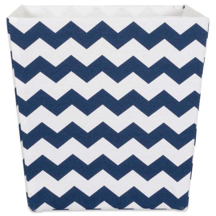 Polyester Bin Chevron Nautical Blue Trapezoid 13x13x13
