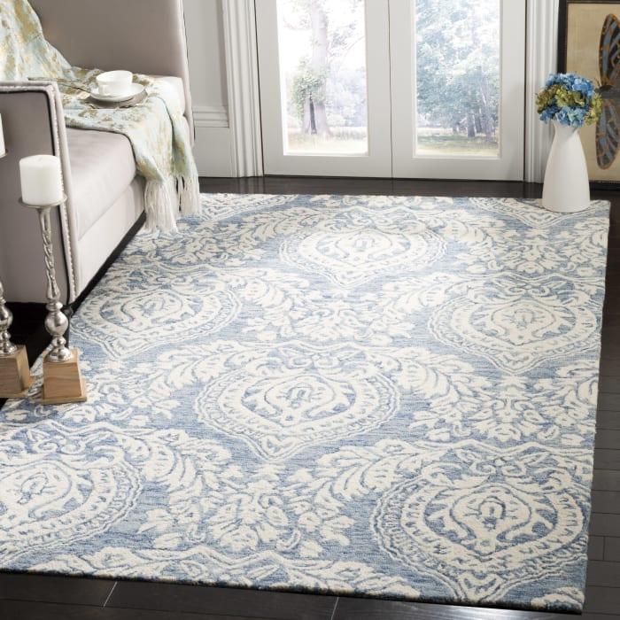 Essence 512 5' X 8' Blue Wool Rug