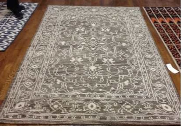 Brown Wool Rug 4' x 6'