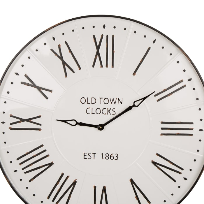Oversized Farmhouse Metal Wall Clock