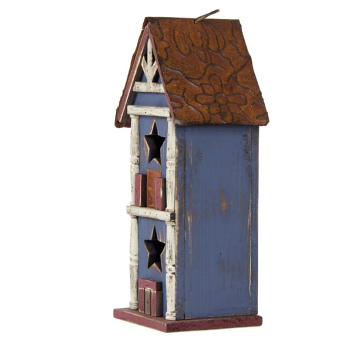 Decorative Birdhouse with Metal Roof