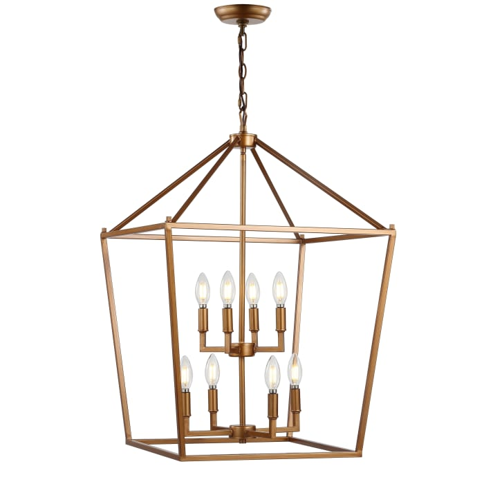 Antique Gold Lantern Metal LED Pendant