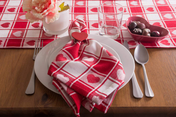 Valentine's Day Red Picnic Tablecloth