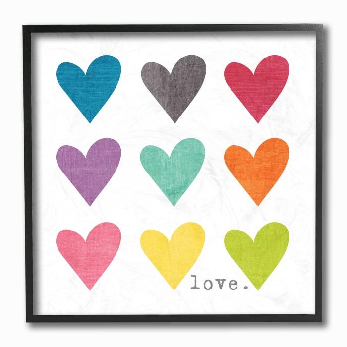 Vibrant Hearts Framed Wall Art