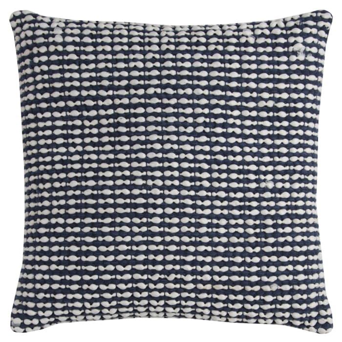 Textured Striped Blue Throw Pillow