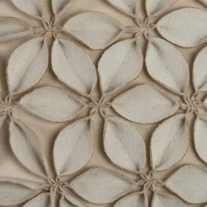 Botanical Petals Cream Throw Pillow