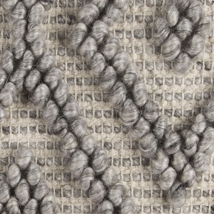 Chunky Geometric Gray Throw Pillow