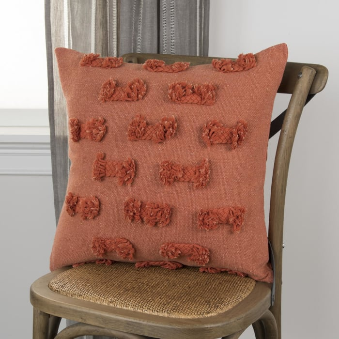 Abstract Striped Orange Pillow Cover