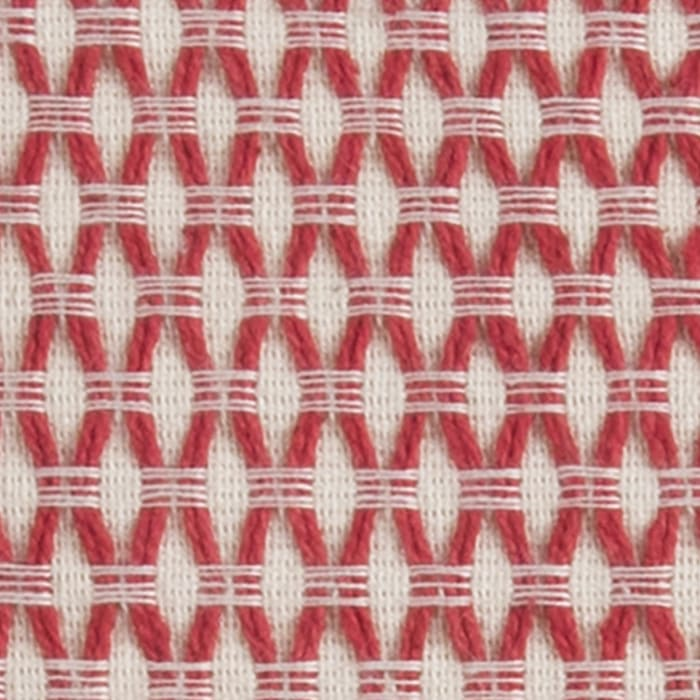 Geometric Woven Textured Red Pillow Cover
