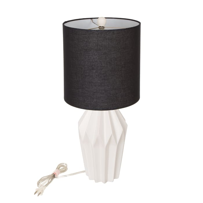 Diamond White Ceramic Table Lamp