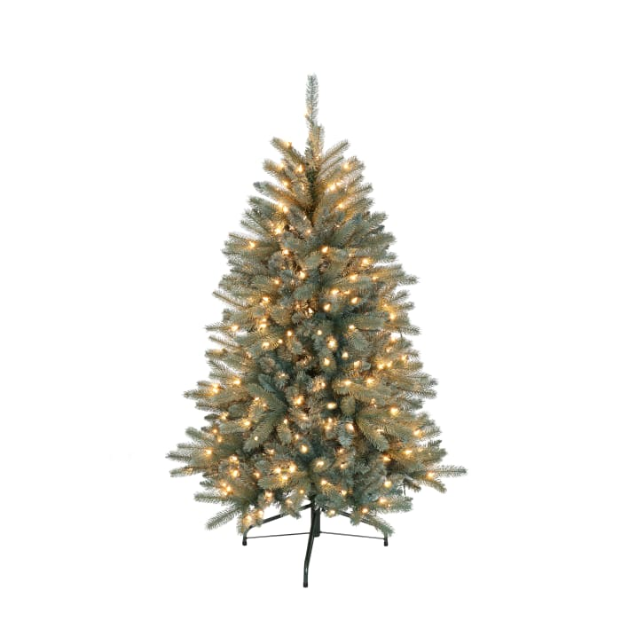 4.5' Pre-Lit Blue Glacier Fir Artificial Christmas Tree