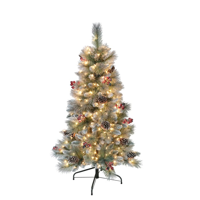 4.5' Pre-Lit Sterling Pine Artificial Christmas Tree