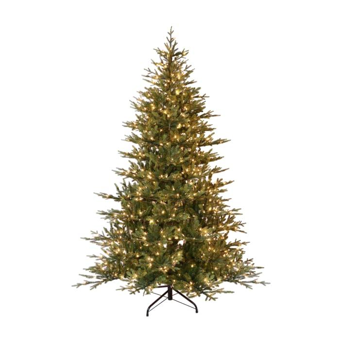 9' Pre-Lit Balsam Fir Artificial Christmas Tree