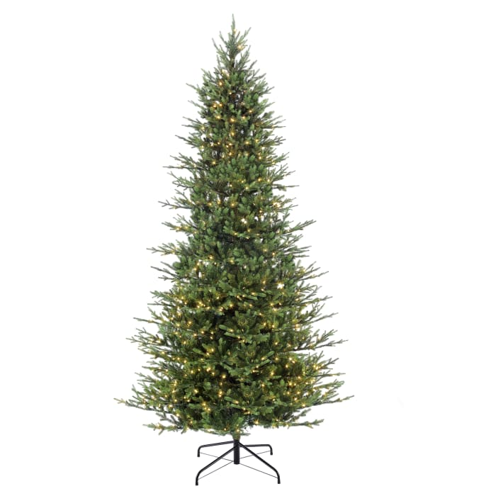 9' Pre-Lit Slim Balsam Artificial Christmas Tree