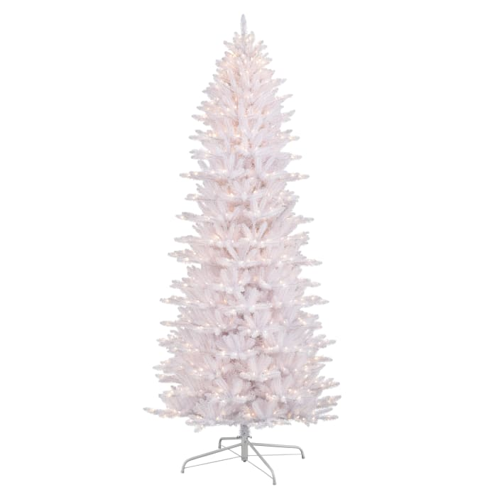9' Pre-Lit White Slim Fraser Fir Artificial Christmas Tree