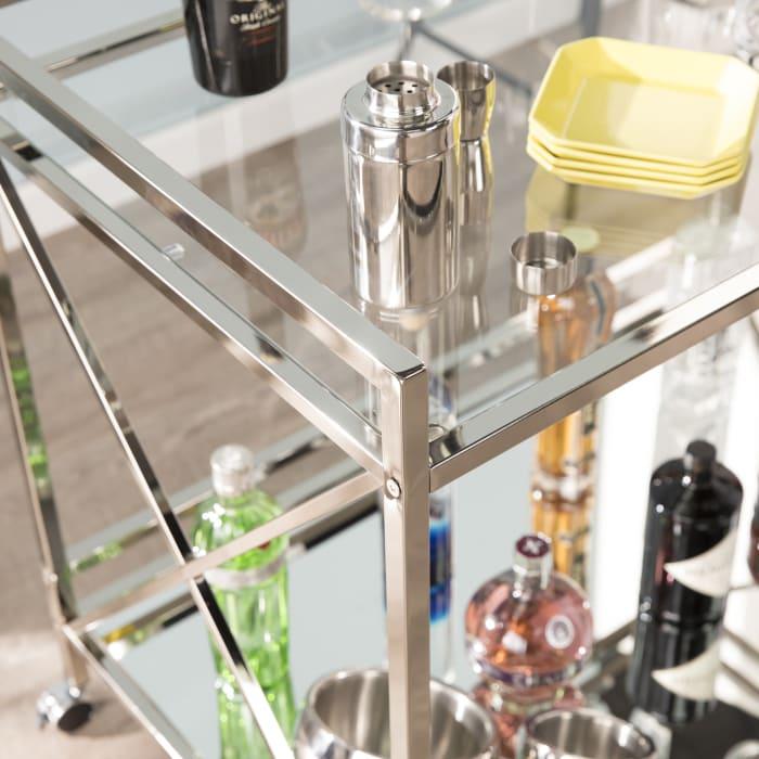 Bogart Silver Bar Cart