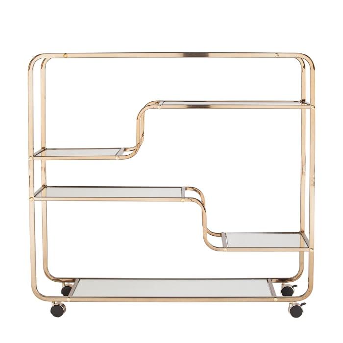 Art Deco Mirrored Bar Cart
