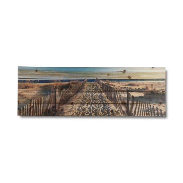 Walk to the Beach Print on Wood