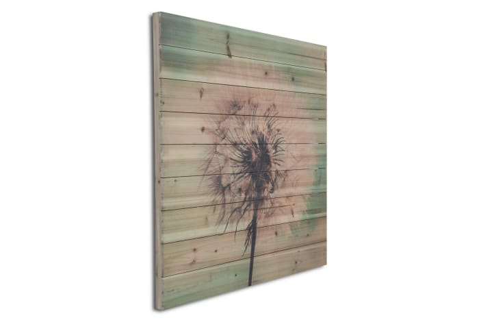 Dandelion Wishes Print on Wood
