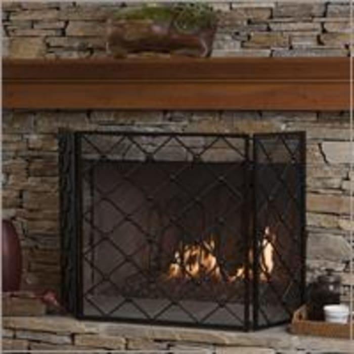 Fireplace Screen Black