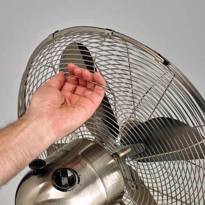 Stainless Adjustable Height Standing Fan