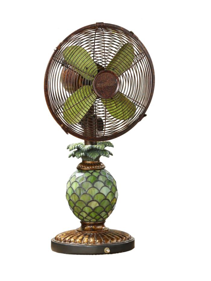Mosaic Pineapple Table Fan & Lamp