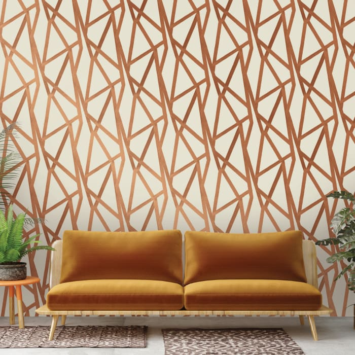 Genevieve Bronze Intersections Urban Self-Adhesive Removable Wallpaper