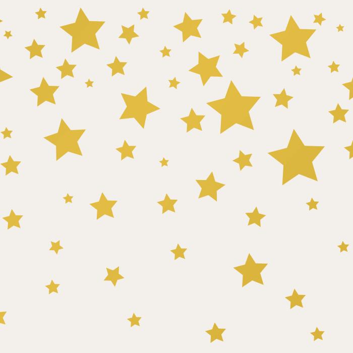 Gray & Metallic Gold Stars Self-Adhesive Borders Removable Wallpaper