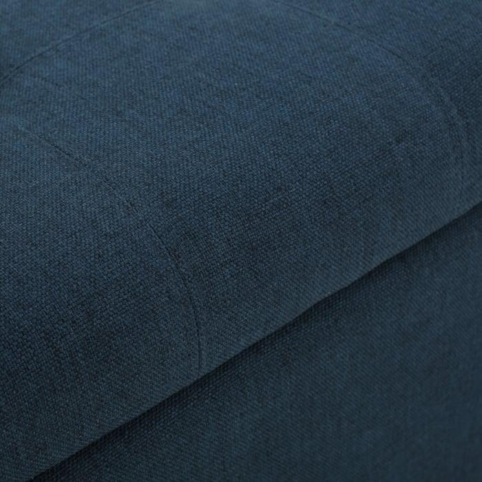 Dark Blue Storage Ottoman