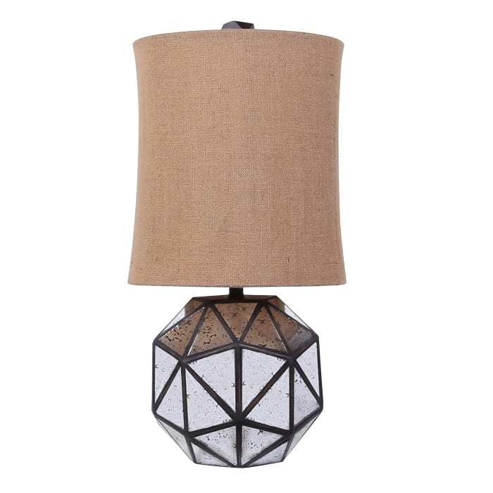 Metal & Mirrored Table Lamp