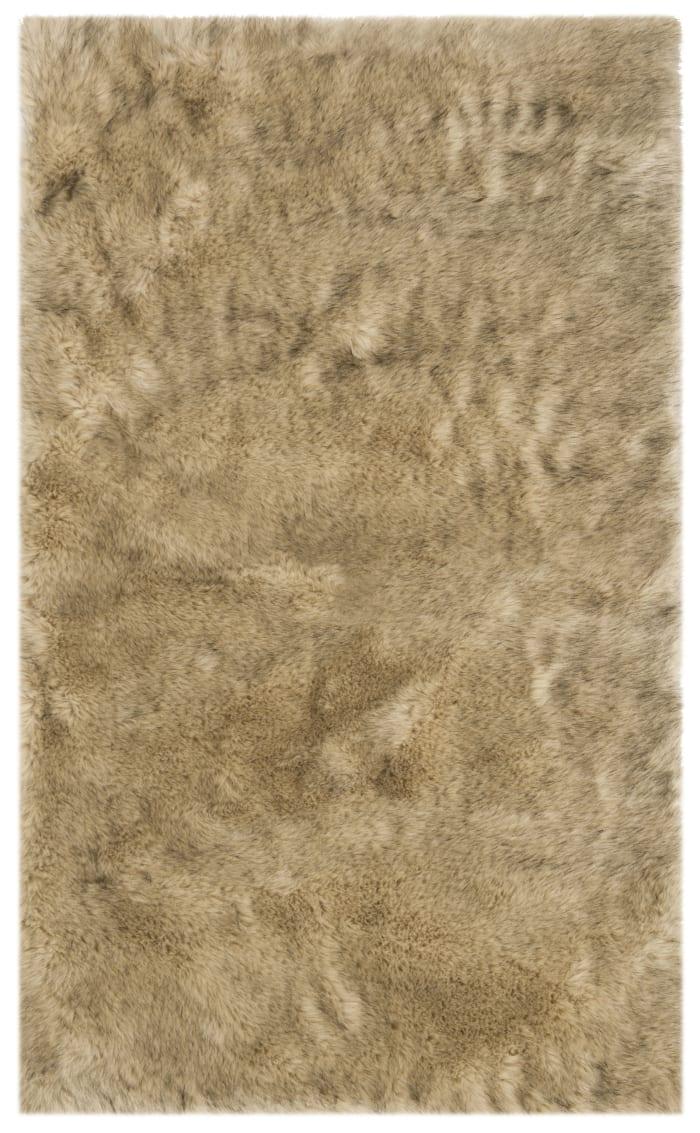 Amelia Camel Faux Sheepskin 3'x5' Rug